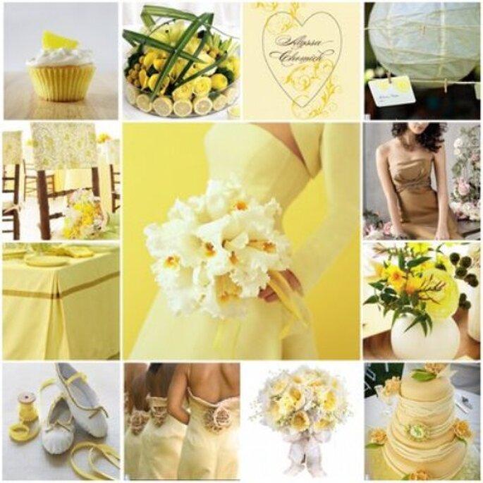 Dettagli per un matrimonio in giallo. Foto www.oggisposa.it