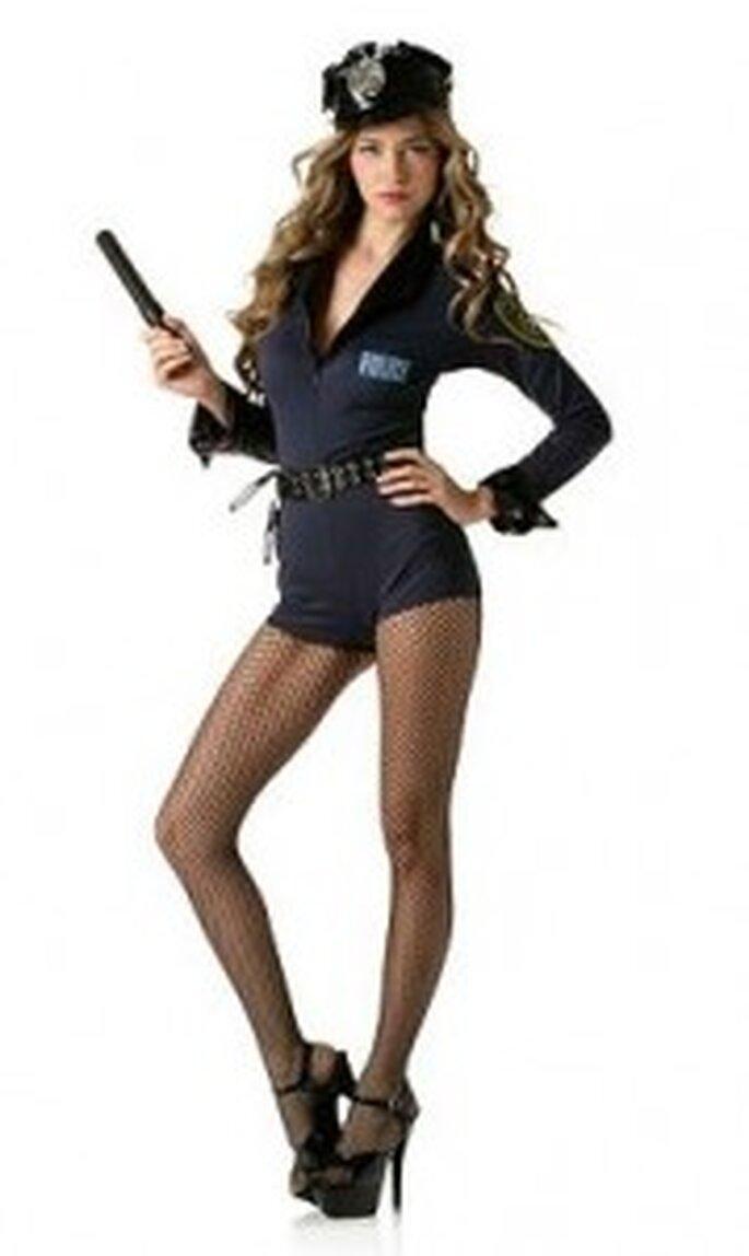 Un disfraz muy sexy de policía