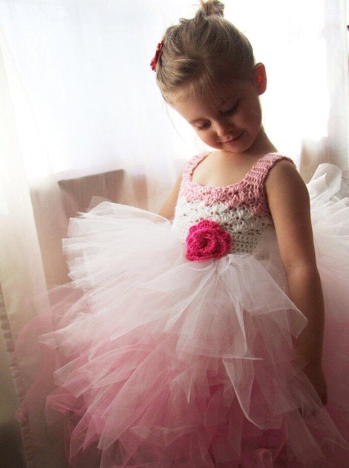 Vestidito tutú para niñas. Foto: King Soleil vía Etsy