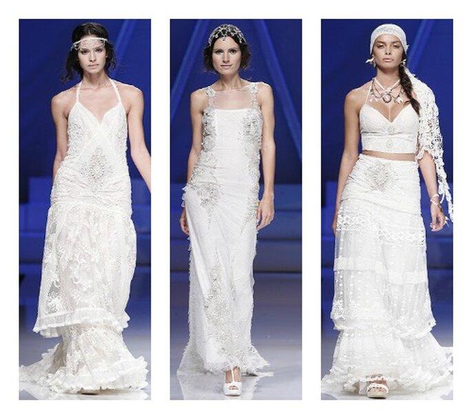 Per una sposa che ama lo stile Hippy, Yolan Cris non può che essere lo stilista giusto! Collezione 2013 Foto Barcelona Bridal Week