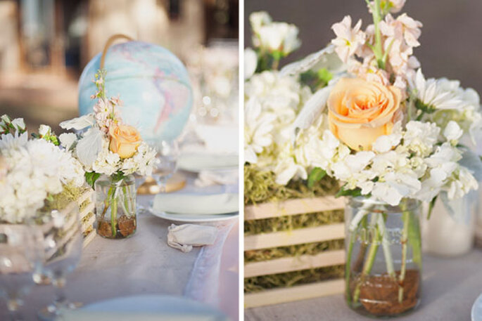 Flores y adornos divertidos en un montaje romántico para el día - Foto Christa Elyce Photography