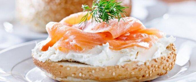 Photo : Bagel au saumon. Retrouvez la recette ici