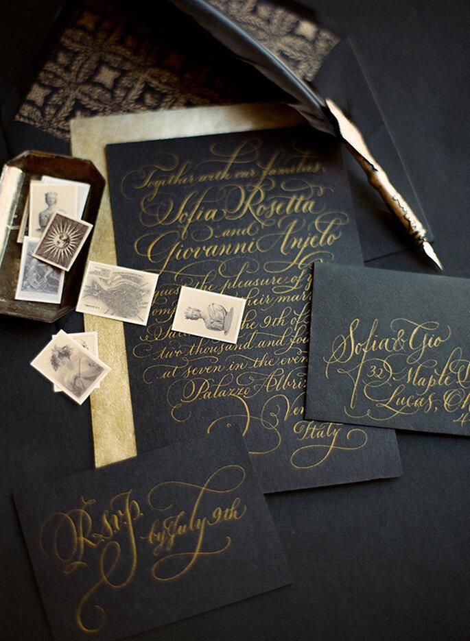 Elegancia para tu boda en tonos intensos - Foto Heather Waraksa