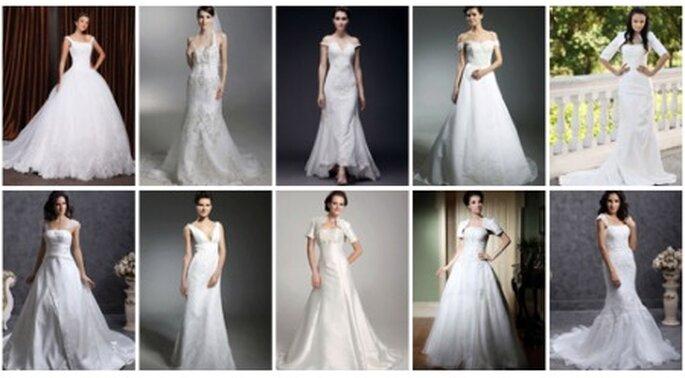 10 vestidos ideales para una novia con mucho pecho