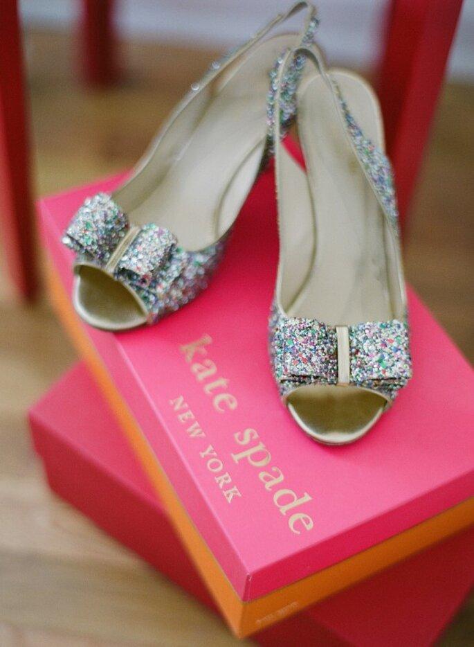 Zapatos de novia con aplicaciones y brillos - Katie Parra