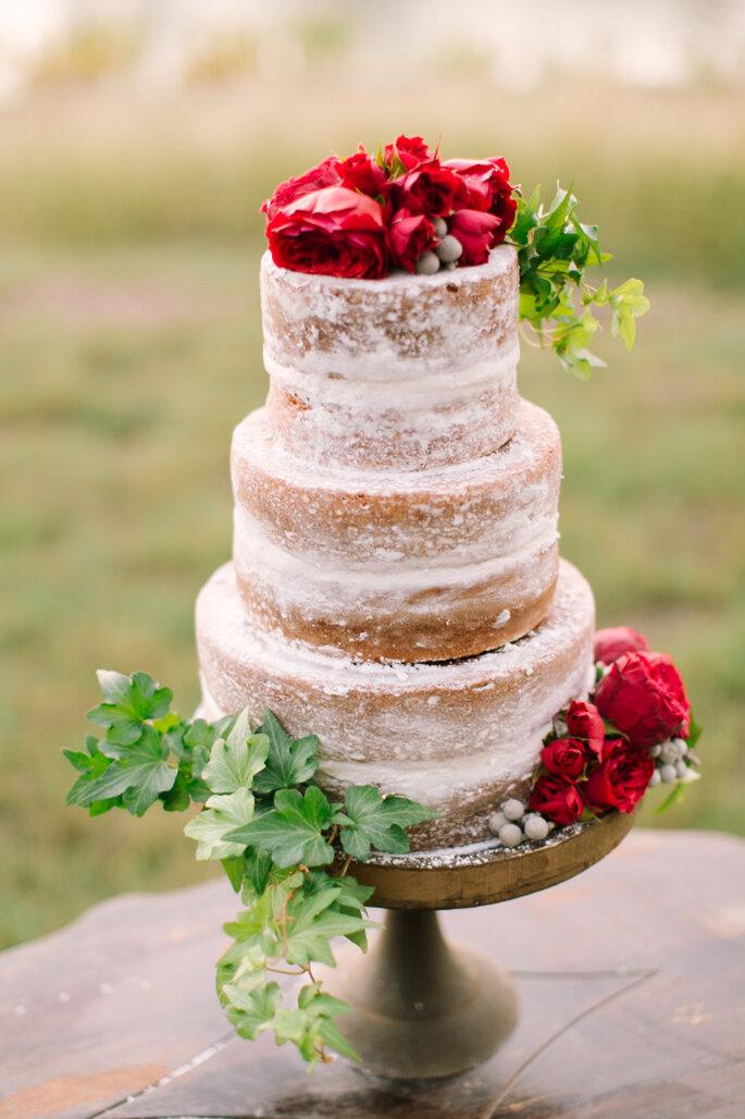 pastel con flores - Mint Photography
