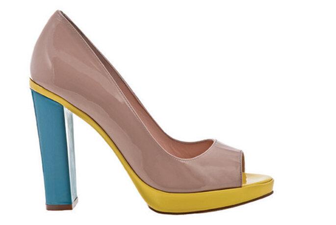 Toe shoes con zeppa di Paco Gil
