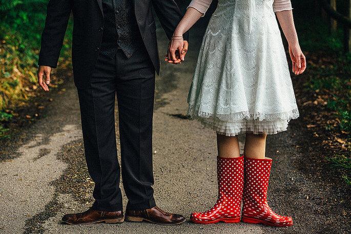 Lunares y más lunares para tu boda. Foto: Chris Yeo Photography