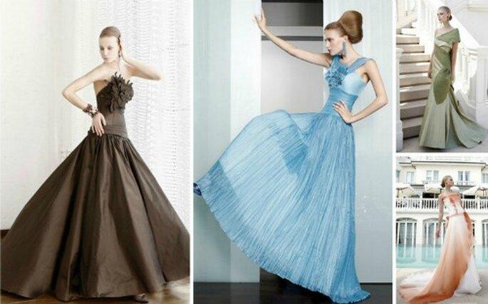 Nella Collezione 2012 Elisabetta Polignano sperimenta davvero tutti i colori e ogni abito da sposa è unico a modo suo