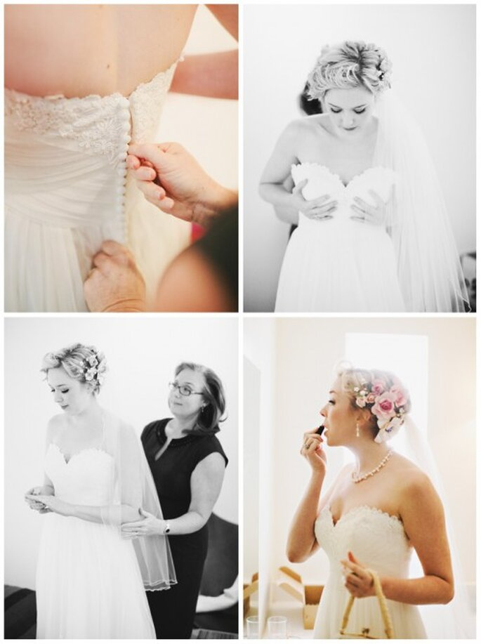 Toma en cuenta que tendrás que hacerle modificaciones a tu vestido de novia para que te quede perfecto - Foto Stacy Reeves