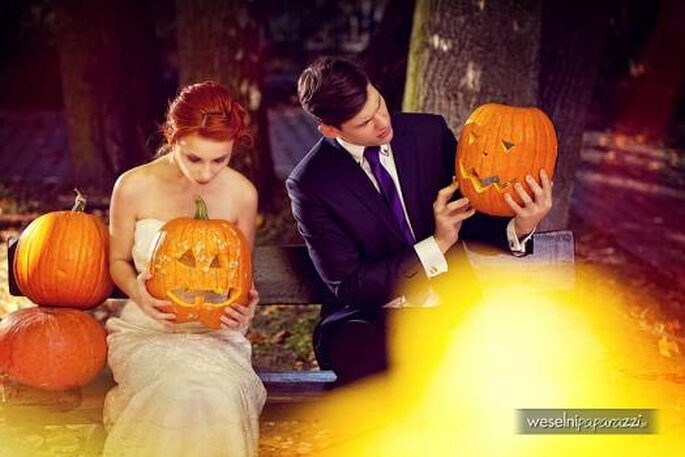 Boda en Halloween. Foto de Weselni Paparazzi.