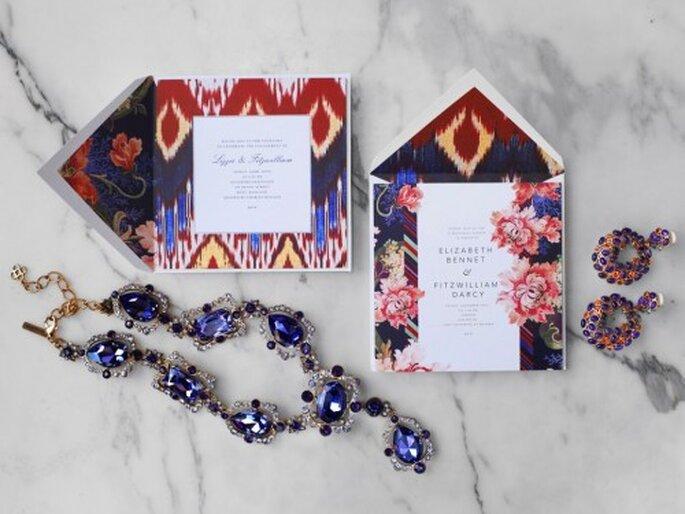 Invitación de boda estilo couture - Foto Oscar de la Renta Facebook