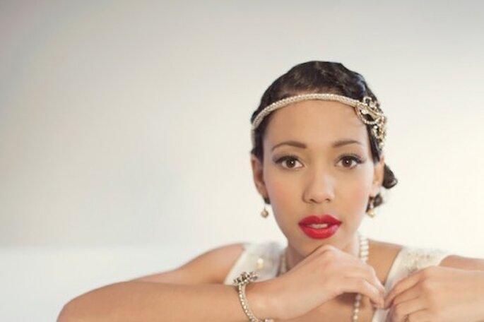 """Maquillage de mariée version """"Gatsby le Magnifique"""" - Photo EFC Photography"""
