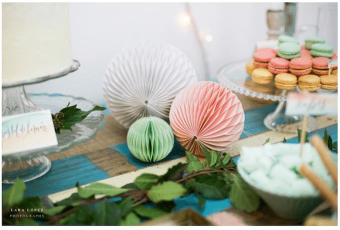 Cómo decorar un brunch de boda al aire libre -Lara López Photography