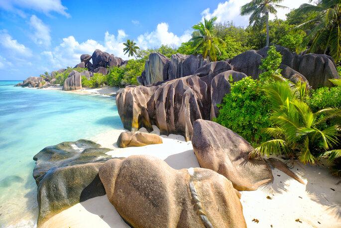 Playa de Argent Anse Source, La Digue Island, Seyshelles