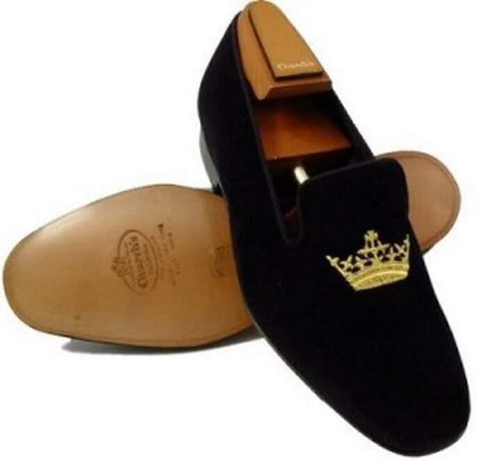 Zapatos para novio tipo slippers