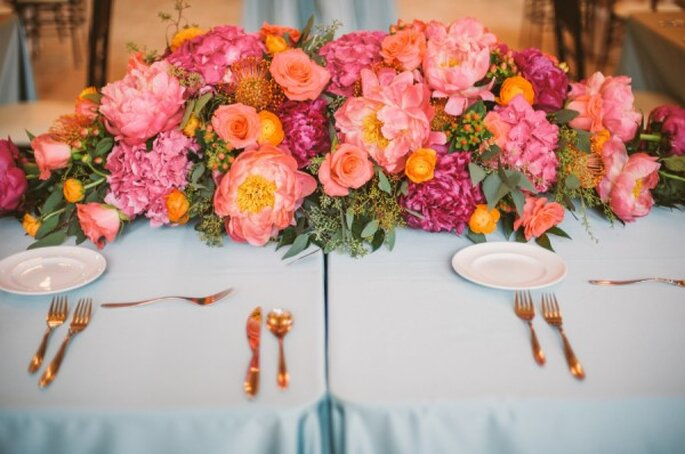 Los colores perfectos para decorar una boda en 2015 - Foto KJ and Rob Photographers