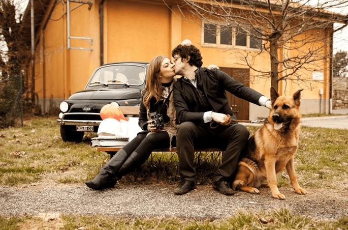 zdjęcia ślubne z psem