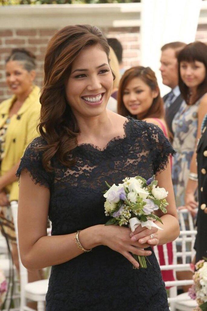 Angela Montenegro la madrina de bodas de Brennan y Booth - Foto FOX