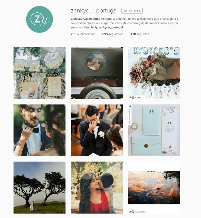 Instagram Zankyou Casamentos Portugal