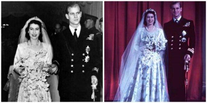 Vestido de novia de la Reina Isabel II de Inglaterra