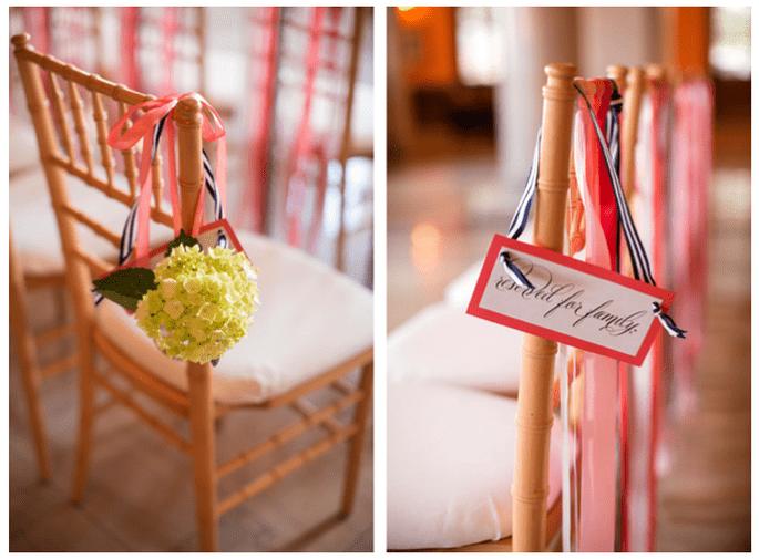 Una decoración con rayas en tu boda - Foto Katelyn James