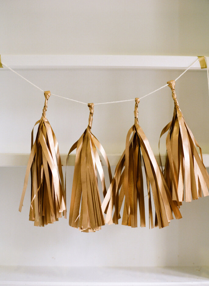 Decoración de boda con tassels - White Loft Studio