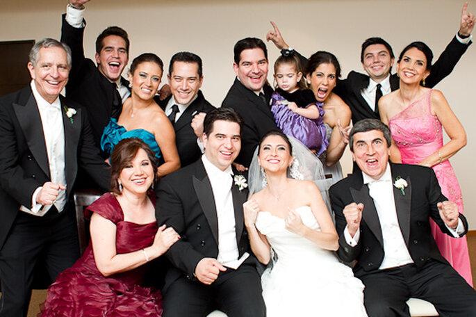 Sesión de fotos con la familia. Foto de Pepe Orellana