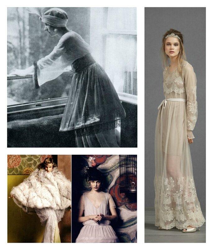 Robes de mariée des années 1900-1910. Crédits Photos : Paul Poiret ...
