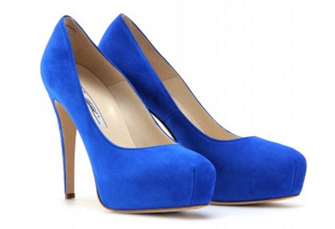 fbdb707057 Elegantes zapatos de novia de diseñador en color azul - Foro Moda ...