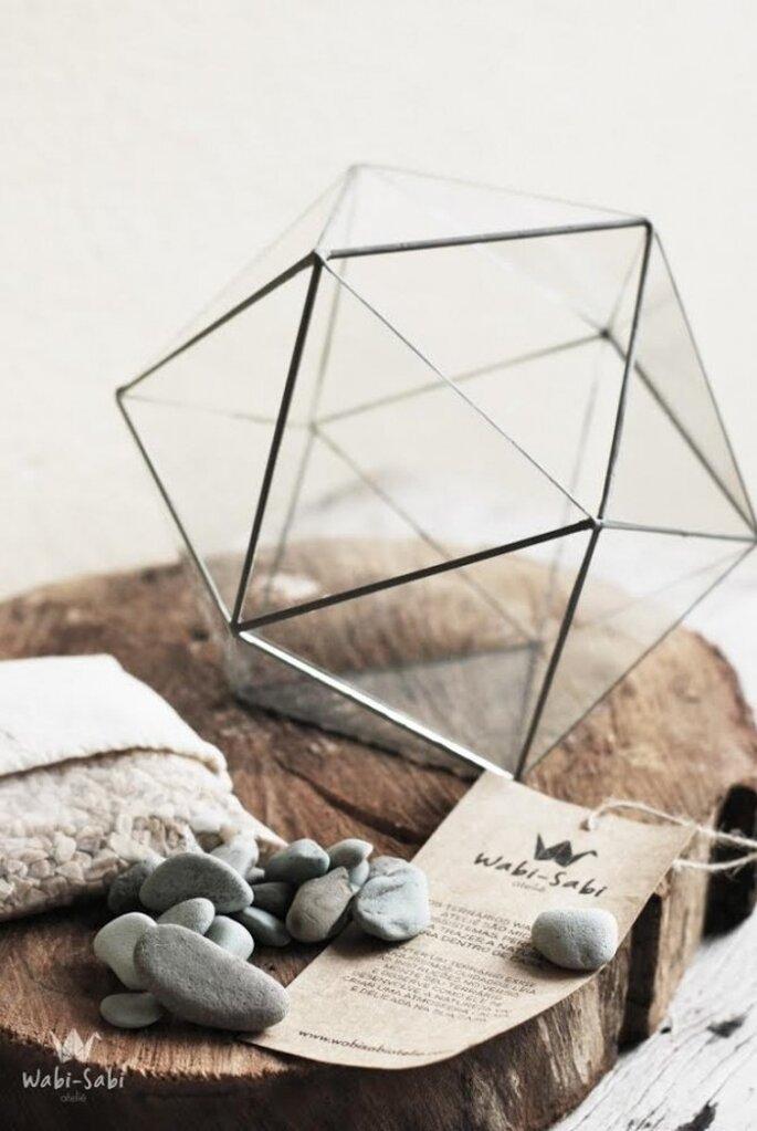 Decoración para boda con figuras geométricas - Foto Wabi Sabi Atelie