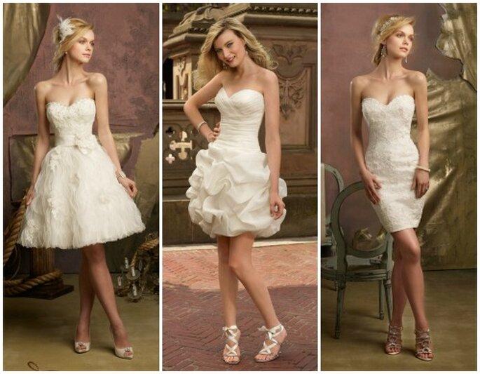 Tre idee in corto, very trendy! Mori Lee 2013 Bridal Collection. Foto: www.morilee.com