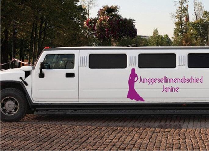 Autoaufkleber Hochzeit - Junggesellinnenabschied von FleurDeLis-Wandtattoo