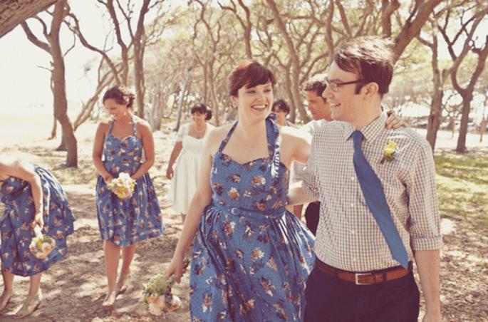 Colores de moda para vestidos de damas de boda 2013. Fotografía One Love photo