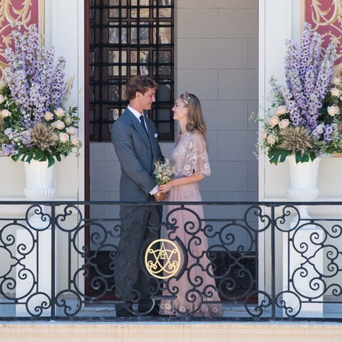 Pierre Casiraghi e Beatrice Borromeo. Credits: Maison Valentino Instagram