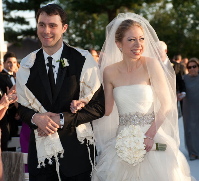 Vestido de noiva Chelsea Clinton - Barbara Kinney via FilmMagic / Getty Images