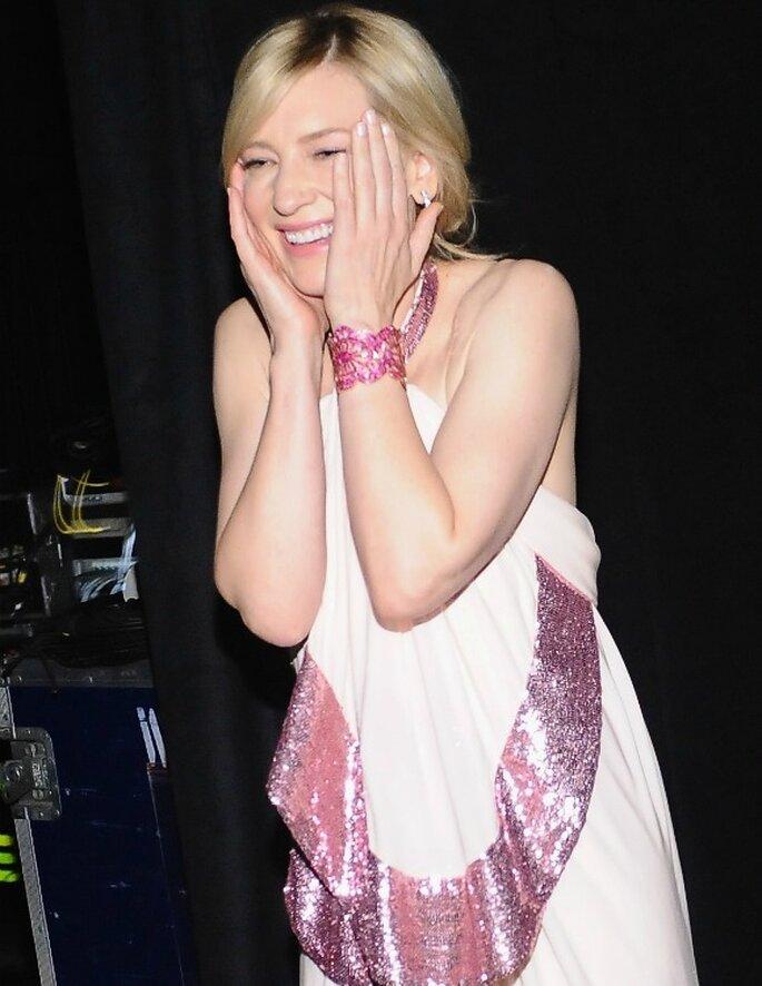 Cate Blanchett, con un Givenchy de color rosa en los Screen Actors Guild Awards. Foto: Stefanie Keenan