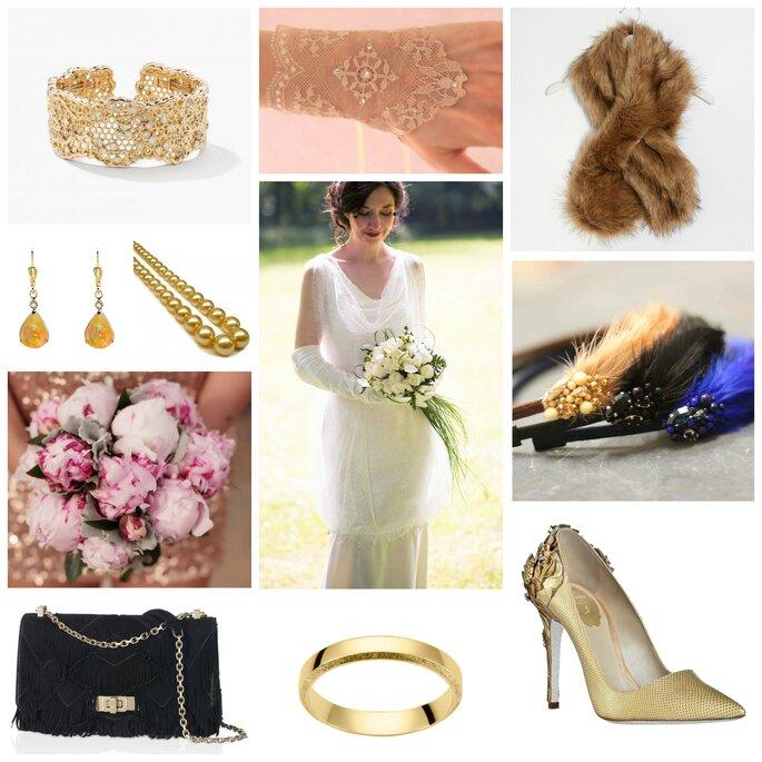 Robe des années folles et ses 10 accessoires pour une mariée Gatsby !