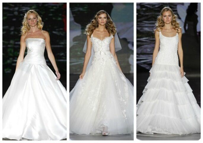 Vestidos de novia que favorecen a mujeres muy delgadas. Pronovias