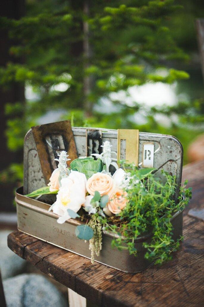 Una boda con toques country - Foto Rebecca Hollis Photography