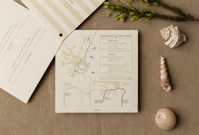 invitaciones con mapa