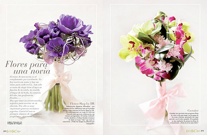 El magazine incorporsa toda suerte de detalles imprescindibles para las novias que quieran una boda única. Foto: LucíaSeCasa