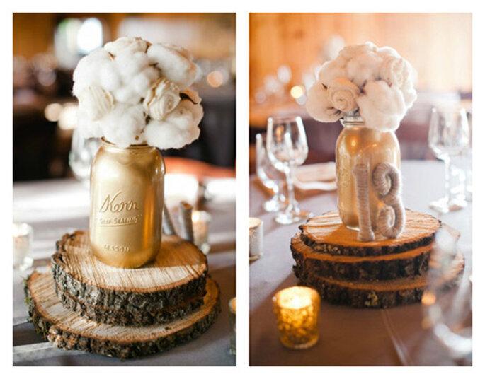 Winter Wedding Centerpiece Ideas Diy : Woodsy winter centerpiece idea photo by pictilio