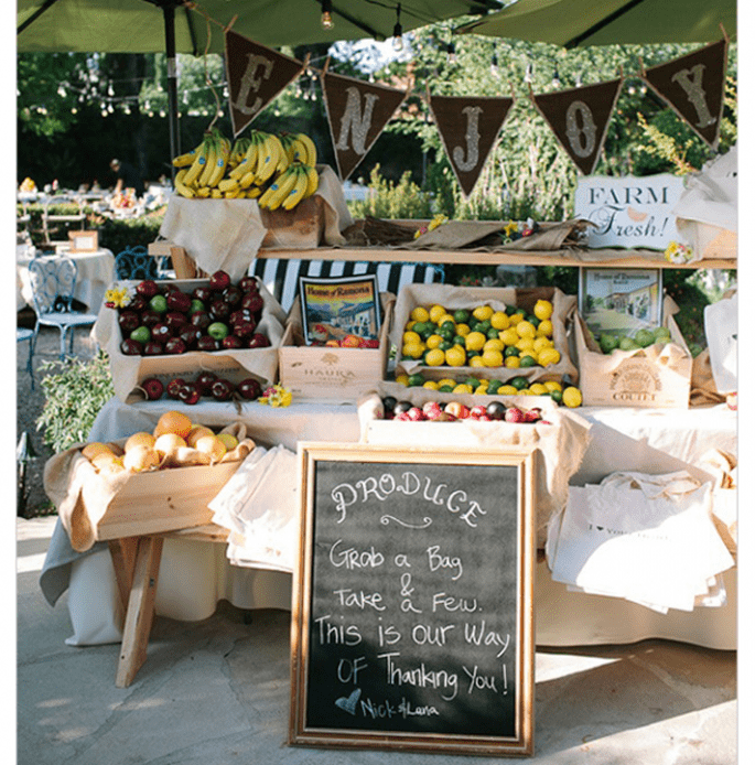 Decoraciones de papel para tu boda - Foto Joe and Kathrina Photography