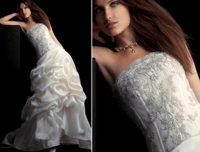 Vestido de novia bordado con falta en tul, colección Fabio Gritti 2012