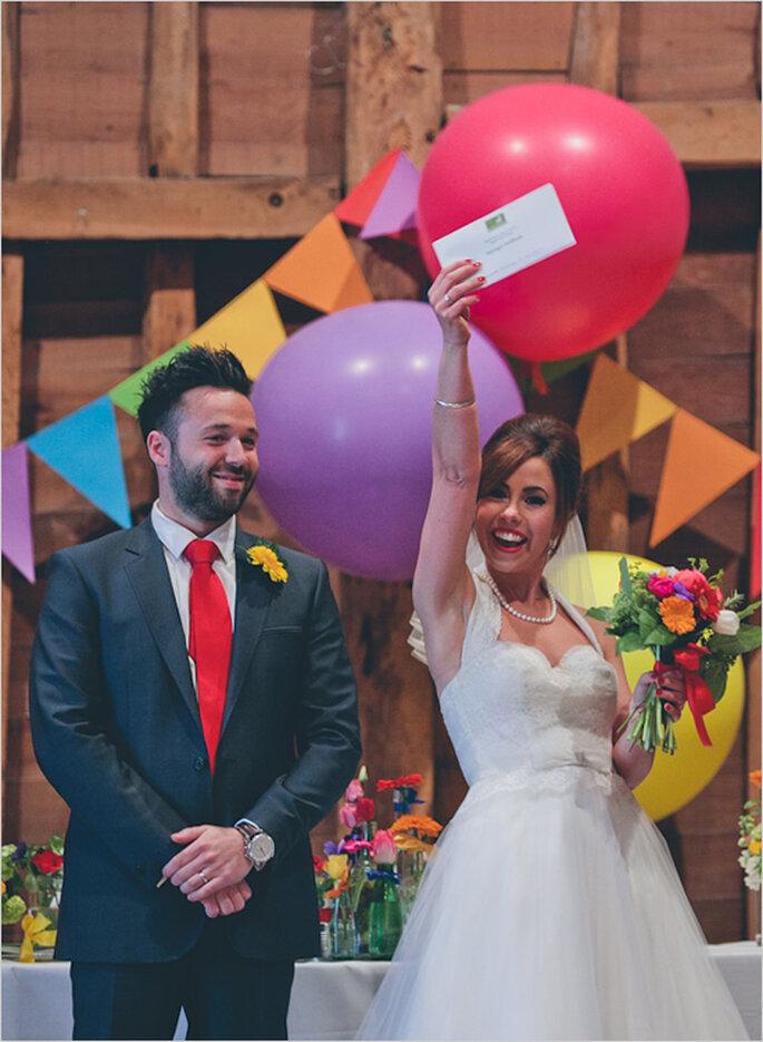 Real Wedding: Una inspiración increíble en los colores del arcoíris - Foto We Heart Pictures