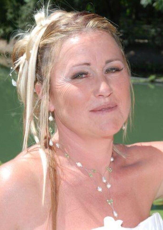 Parure de bijoux blanche et verte - La-caverne-aux-bijoux.com