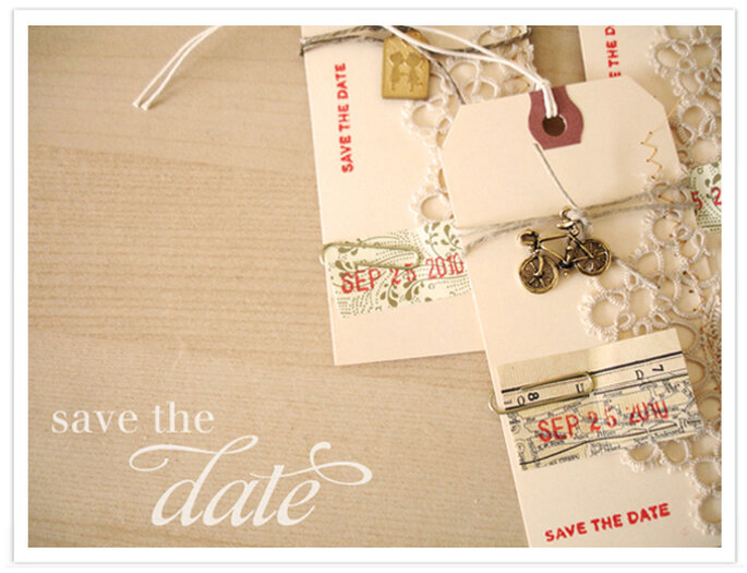 Idee per un Save the date vintage