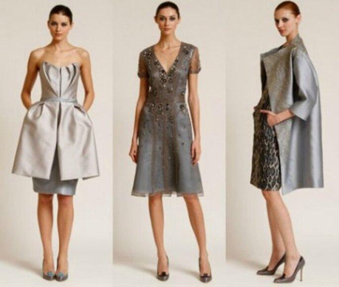 Tre modelli di Carolina Herrera. Foto www.fashionandbeauty.cafeversatil.com