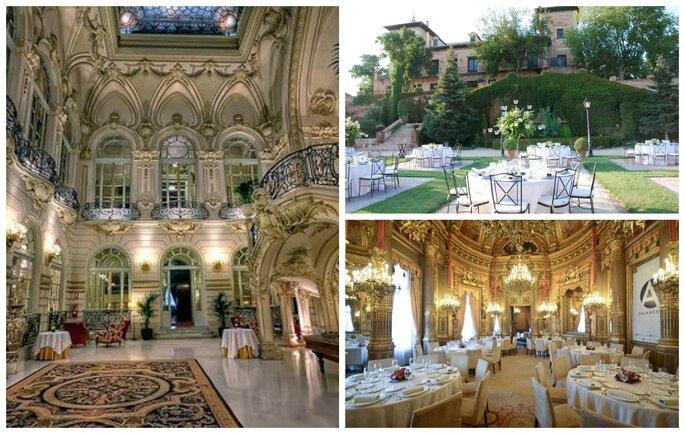Casino de Madrid, Palacio de Aldovea y Palacio de Linares